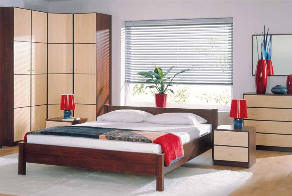 Black Red White  Furniture and accessories to the room